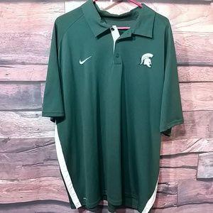 Dri-Fit Nike sport pullover button down shirt
